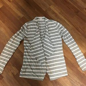 J. Crew Cotton Striped Cardigan